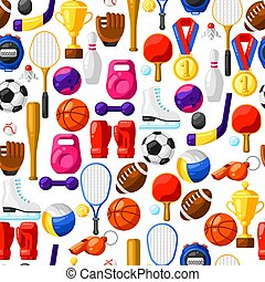 Seamless pattern with sport icons.