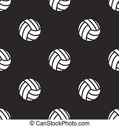 seamless pattern with Volleyball