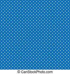 Seamless pattern, small white polka dots, bright blue background for arts, crafts, fabrics, decorating, albums, scrapbooks. EPS8 includes pattern swatch that will seamlessly fill any shape.