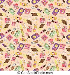 seamless snacks pattern