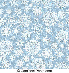 Seamless snow flakes vector pattern. EPS 8 vector file included