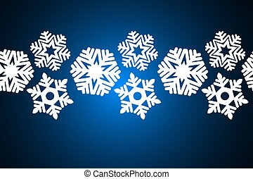 Seamless snowflakes on a blue background. Decoration for christmas design