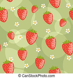 Seamless strawberries background