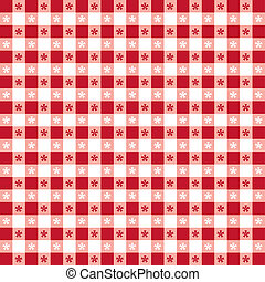 Seamless pattern, red gingham check tablecloth. EPS8 file includes pattern swatch that will seamlessly fill any shape. For picnics, restaurants, cafes, bistros, home decorating, arts, crafts, scrapbooks and albums.