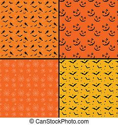 Seamless tile Halloween backgrounds