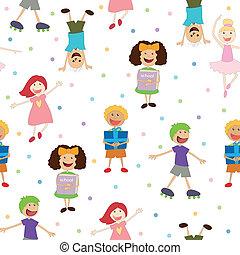 Seamless Vector Kids Pattern