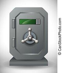 secure box graphic design , vector illustration