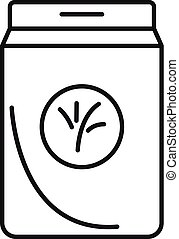 Seed plant package icon, outline style