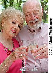 Senior Couple Happy Together