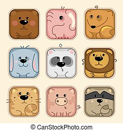 Set 1, animals