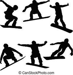 set athletes snowboarders