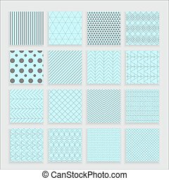 Set of 16 abstract patterns