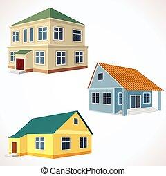 Set of 3D Vector Buildings.