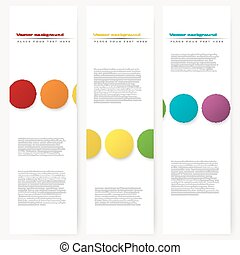Set of abstract template banner
