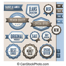 Set of badges and elements
