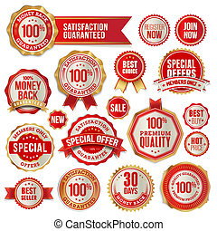 Set of vector badges and stickers for sale