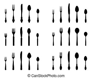 silhouettes of cutlery