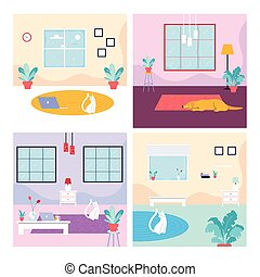 set of cards with a dog and cat