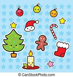 Set of Christmas Icon Elements