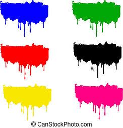 set of color blurs