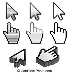 Cursor pointer collection in four different styles