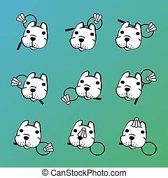 french bulldog vector with badminton
