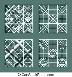 Set of geometric hipster shapes 447