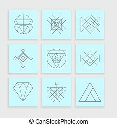 Set of geometric hipster shapes6