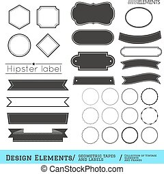 Set of geometric tapes and labels332-01