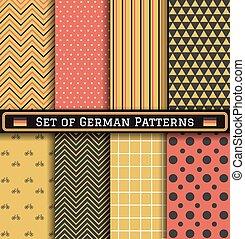 Set of German Independence day patterns