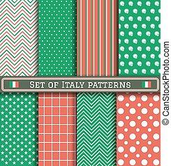 Set of Italia patterns