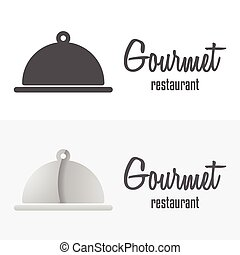 Set of logo and logotype elements for restaurant and cafe