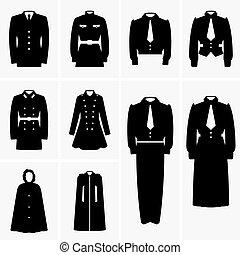 Set of Military uniforms