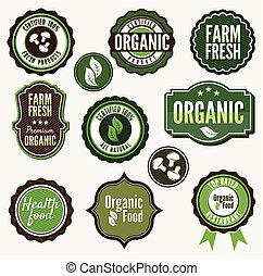 Set of organic and farm fresh food