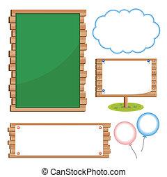 Set of school board blackboards