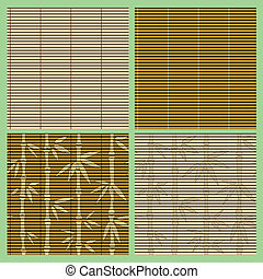 Vector collection of seamless bamboo patterns