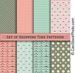 Set of Shopping Time Patterns