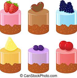 Set of six shortcakes