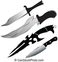 set of special knives - VECTOR