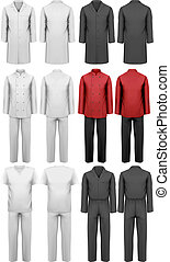 Set of various work clothes. Vector illustration