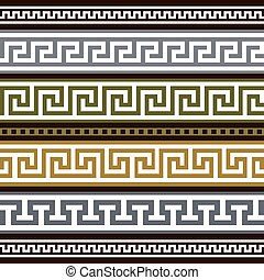 Collection of antique greek borders, full scalable vector graphic for easy editing and color change.