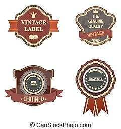 Set of vintage luxury retro labels templates.
