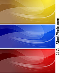 Set of abstract wavy banners (eps 10)
