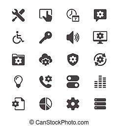 Setting glyph icons