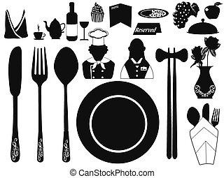 set of restaurant object