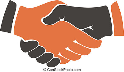 Conceptual image of two people of different ethnicities shaking hands between cultural communities either during a business agreement or in everyday life as a show of trust