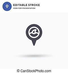Shark icon vector, filled flat sign, solid pictogram isolated on white, logo illustration. Shark icon for presentation.