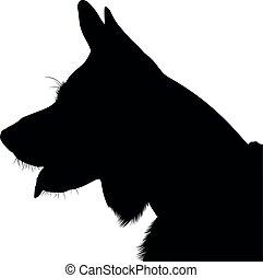 shepherd dog silhouette vector. German Shepherd. Shepherd Dog Portrait