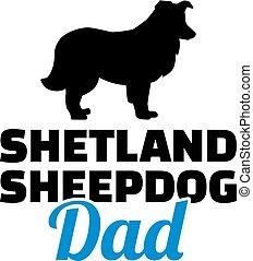 Shetland Sheepdog dad silhouette