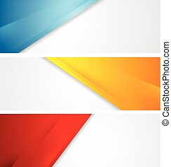 Shiny tech corporate banners. Vector design